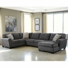 Benchcraft Sorenton 3-Piece LAF Sofa Sectional in Slate Fabric [FBC-2869SEC-3LAFS-SLA-GG]