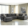 Benchcraft Sorenton 3-Piece RAF Sofa Sectional in Slate Fabric [FBC-2869SEC-3RAFS-SLA-GG]