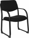 Black Fabric Executive Side Chair with Sled Base [BT-508-BK-GG]