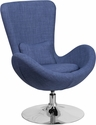Blue Fabric Egg Series Reception-Lounge-Side Chair [CH-162430-BL-FAB-GG]