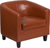 Cognac Leather Lounge Chair [BT-873-CG-GG]