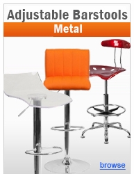 Contemporary Adjustable Height Metal Barstools