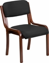 Contemporary Black Fabric Wood Side Chair with Walnut Frame [UH-5071-BK-WAL-GG]