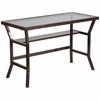 Contemporary Desk with Dark Gray Tempered Glass [NAN-YLCD1237-GG]