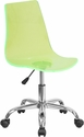 Contemporary Transparent Green Acrylic Task Chair with Chrome Base [CH-98018-GN-GG]