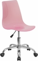 Contemporary Transparent Pink Acrylic Task Chair with Chrome Base [CH-98018-PK-GG]