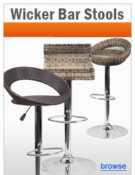 Contemporary Wicker Bar Stools