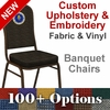 Custom Crown Back Banquet Chair with Gold Vein Frame - Customize your chair with Text,Logos and Images [FD-C01-GV-CUSTOM-EMB-GG]