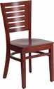Darby Series Slat Back Mahogany Wood Restaurant Chair [XU-DG-W0108-MAH-MAH-GG]