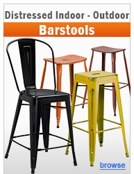 Distressed Indoor-Outdoor Barstools