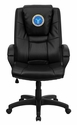 Dreamweaver Personalized Black Leather Executive Swivel Chair with Arms [GO-5301BSPEC-BK-LEA-EMB-GG]