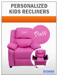 Dreamweaver Personalized Kids Recliner Collection with Storage Arms