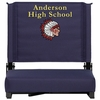 Embroidered Grandstand Comfort Seats by Flash with Ultra-Padded Seat in Navy [XU-STA-NVY-EMB-GG]