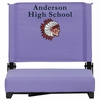 Embroidered Grandstand Comfort Seats by Flash with Ultra-Padded Seat in Purple [XU-STA-PUR-EMB-GG]