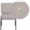 Embroidered HERCULES Series 21'' Wide Gray Dot Fabric Stacking Church Chair with 4'' Thick Seat - Silver Vein Frame [FD-CH0221-4-SV-GYDOT-EMB-GG]
