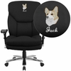 Embroidered HERCULES Series 24/7 Intensive Use, Multi-Shift, Big & Tall 400 lb. Capacity Black Fabric Executive Swivel Chair with Lumbar Support Knob [GO-2085-EMB-GG]