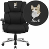 Embroidered HERCULES Series 24/7 Intensive Use, Multi-Shift, Big & Tall 400 lb. Capacity Black Fabric Executive Swivel Chair with Lumbar Support Knob [GO-2149-EMB-GG]