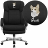 Embroidered HERCULES Series 24/7 Intensive Use, Multi-Shift, Big & Tall 500 lb. Capacity Black Fabric Executive Swivel Chair with Loop Arms [GO-2078-EMB-GG]