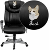 Embroidered HERCULES Series 400 lb. Capacity Big & Tall Black Leather Executive Swivel Office Chair with Height & Width Adjustable Arms [GO-1534-BK-LEA-EMB-GG]