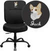 Embroidered HERCULES Series 400 lb. Capacity Big & Tall Black Leather Executive Swivel Office Chair with Extra WIDE Seat [WL-735SYG-BK-LEA-EMB-GG]