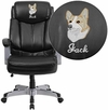 Embroidered HERCULES Series 500 lb. Capacity Big & Tall Black Leather Executive Swivel Office Chair [GO-1850-1-LEA-EMB-GG]