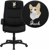 Embroidered High Back Black Fabric Executive Swivel Office Chair [BT-134A-BK-EMB-GG]