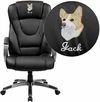 Embroidered High Back Black Leather Executive Swivel Office Chair [BT-9069-BK-EMB-GG]