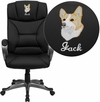 Embroidered High Back Black Leather Executive Swivel Office Chair [BT-9177-BK-EMB-GG]