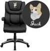 Embroidered High Back Black Leather Executive Swivel Office Chair [BT-9896H-EMB-GG]