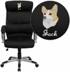 Embroidered High Back Black Leather Executive Swivel Office Chair [H-9637L-1C-HIGH-EMB-GG]