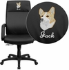 Embroidered High Back Black Leather Executive Swivel Office Chair with Memory Foam Padding [BT-90033H-BK-EMB-GG]