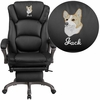 Embroidered High Back Black Leather Executive Reclining Swivel Chair with Arms [BT-90279H-EMB-GG]