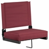 Grandstand Comfort Seats by Flash with Ultra-Padded Seat in Maroon [XU-STA-M-GG]