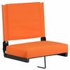 Grandstand Comfort Seats by Flash with Ultra-Padded Seat in Orange [XU-STA-OR-GG]