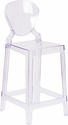 Ghost Counter Stool with Tear Back in Transparent Crystal [OW-TEARBACK-24-GG]