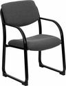 Gray Fabric Executive Side Chair with Sled Base [BT-508-GY-GG]