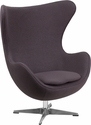Gray Wool Fabric Egg Chair with Tilt-Lock Mechanism [ZB-18-GG]