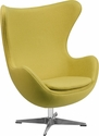 Citron Wool Fabric Egg Chair with Tilt-Lock Mechanism [ZB-20-GG]