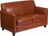 HERCULES Diplomat Series Cognac Leather Loveseat [BT-827-2-CG-GG]