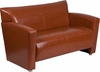 HERCULES Majesty Series Cognac Leather Loveseat [222-2-CG-GG]