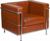HERCULES Regal Series Contemporary Cognac Leather Chair with Encasing Frame [ZB-REGAL-810-1-CHAIR-COG-GG]
