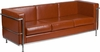 HERCULES Regal Series Contemporary Cognac Leather Sofa with Encasing Frame [ZB-REGAL-810-3-SOFA-COG-GG]