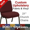 HERCULES Series 21'' Extra Wide Customizable Church Chair with Gold Vein Frame [FD-CH-21-GV-UNP-CUSTOM-GG]