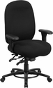 HERCULES Series 24/7 Intensive Use, Multi-Shift, Big & Tall 350 lb. Capacity Black Fabric Multi-Functional Swivel Chair with Foot Ring [LQ-1-BK-GG]