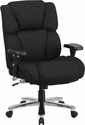 HERCULES Series 24/7 Intensive Use, Multi-Shift, Big & Tall 400 lb. Capacity Black Fabric Executive Swivel Chair with Lumbar Support Knob [GO-2149-GG]