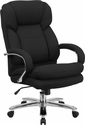 HERCULES Series 24/7 Intensive Use, Multi-Shift, Big & Tall 500 lb. Capacity Black Fabric Executive Swivel Chair with Loop Arms [GO-2078-GG]