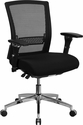 HERCULES Series 24/7 Intensive Use 300 lb. Rated Black Mesh Multifunction Executive Swivel Chair with Seat Slider [GO-WY-85-8-GG]