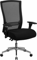HERCULES Series 24/7 Intensive Use 300 lb. Rated Black Mesh Multifunction Executive Swivel Chair with Seat Slider [GO-WY-85H-GG]