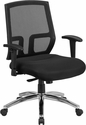 HERCULES Series Big & Tall 400 lb. Rated Black Mesh Mid-Back Executive Swivel Chair with Arms [CP-A337A01-GG]