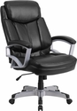 HERCULES Series 500 lb. Capacity Big & Tall Black Leather Executive Swivel Office Chair [GO-1850-1-LEA-GG]